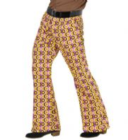 70's Groovy Flared Trousers Discs (09259)
